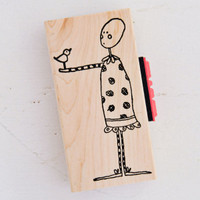 Stampotique Wood Mounted Rubber Stamp — Sing With Words by Kate Crane