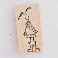 Stampotique Wood Mounted Rubber Stamp — Boots by Kate Crane