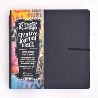 Ranger Ink Dylusions Square Creative Journal by Dyan Reaveley — Black