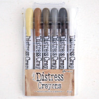 Ranger Ink Distress Crayons Set — Neutrals
