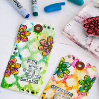 Distress Crayons Techniques Tags by Sarah Donawerth