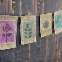 Spring Prayer Flag Bunting Project
