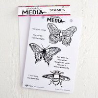 Ranger Ink Dina Wakley Media Stamps — Scribbly Insects