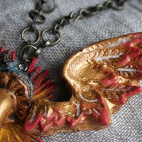 Take Flight Necklace Relics and Artifacts Project by Sandra Evertson