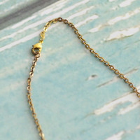 Vintaj Natural Brass Co. Delicate Flat Oval Chain Necklace