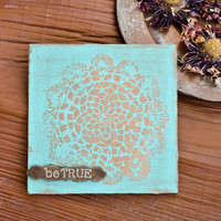 Be True Distressed Canvas Project