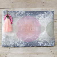 Papaya Art Large Accessory Pouch — You're Everything