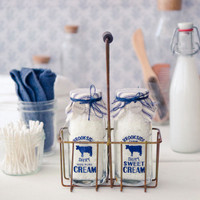 Milk Bottle Bath Salts Caddy