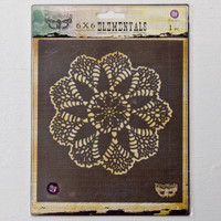 Prima Marketing Finnabair Elementals Stencil — Doily #3