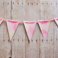 Watercolor Pennant Banner Project