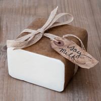 Soy Milk Soap Base — 1 lb Wrapped Bar