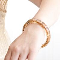 Gold Leafed Bangle Bracelet Project