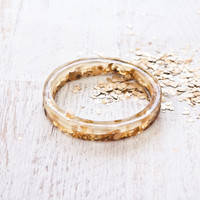 Gold Leafed Bangle Bracelet Project