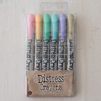 Ranger Ink Distress Ink Crayons - Set 5 Pastels