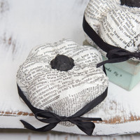 Black & White Decoupage Pumpkins