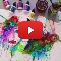 Watercolor Technique with Ken Oliver Color Bursts Video by Nika in Wonderland