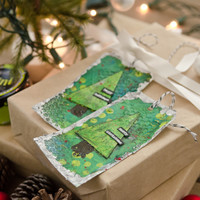 O Christmas Tree! Mixed-Media Tags