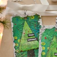 O Christmas Tree! Mixed-Media Tags