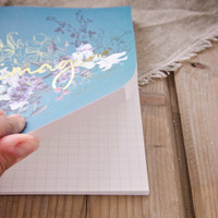 Jewel Flower Clothbound Notebook by Papaya Art