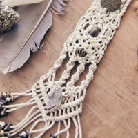 Macrame Bib Necklace by Johanna Love