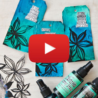 Ocean Blues Spray Ink Tags Video