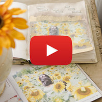 Sunflowers Art Journal Page Video