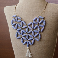 Purple Paper Beads Necklace Project