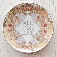 All for Love Trinket Tray by Papaya Art