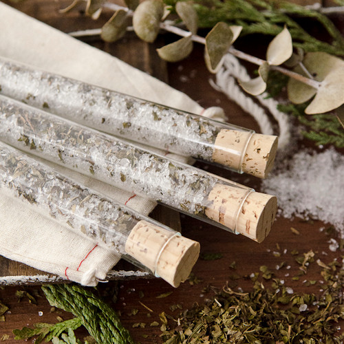 Peppermint Bath Salts Vials DIY Kit