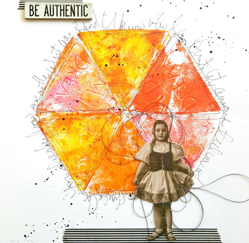 Be Authentic Art Journal Page Project by Guest Artist Cat Kerr