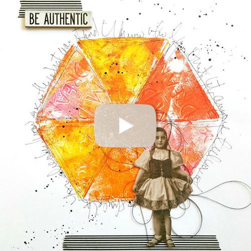Be Authentic Art Journal Page Video by Guest Artist Cat Kerr