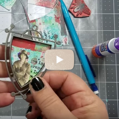 Multi Layered Business Card and Resin Pendant Video by Cat Kerr