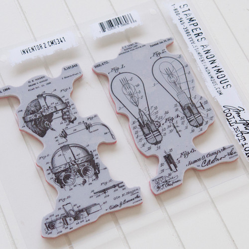 Stampers Anonymous Tim Holtz Cling Stamps Inventor 2