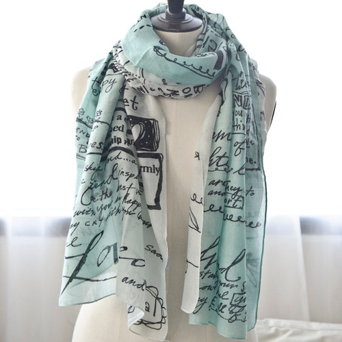 Aqua Ombre Friends Scarf