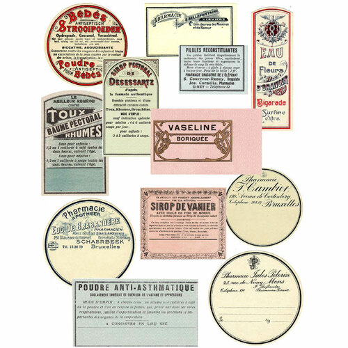 French Toiletries Ephemera Downloads