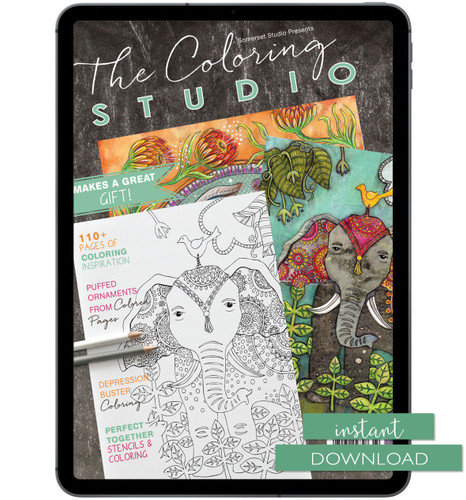 The Coloring Studio Winter 2017 Instant Download