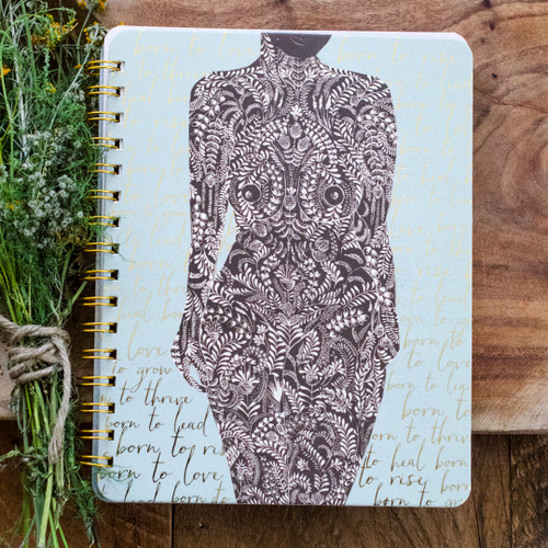 Living Woman Spiral Notebook by Papaya Art