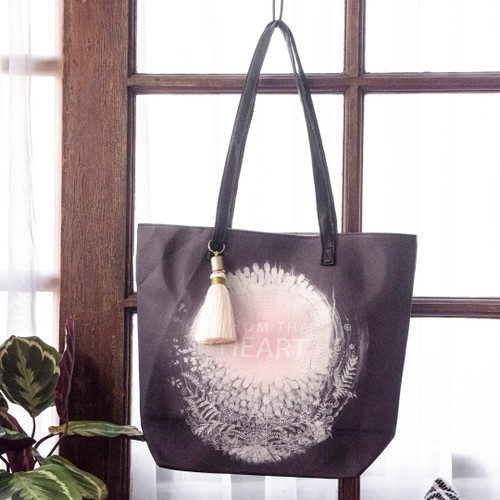 From the Heart Bucket Tote by Papaya Art
