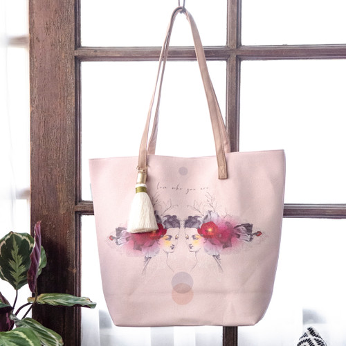 Reflection Bucket Tote by Papaya Art