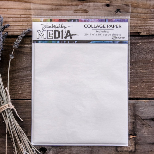 Dina Wakley Media Collage Paper Plain Sheets