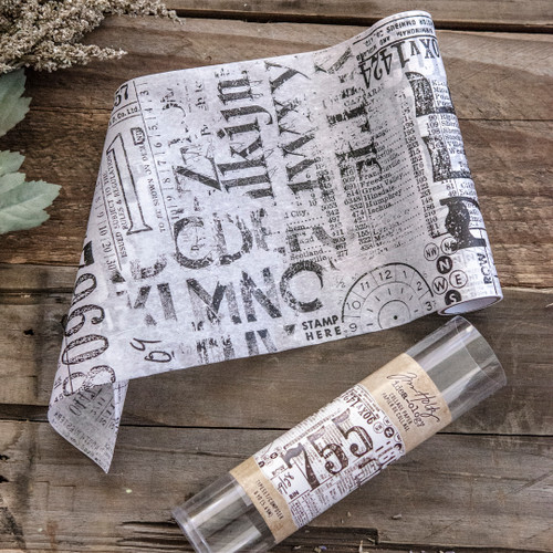 Tim Holtz Ideaology Collage Paper Typeset