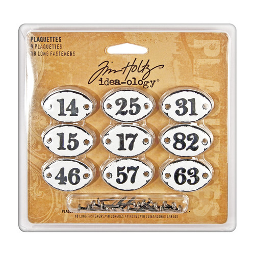 Advantus Tim Holtz Idea-ology Plaquettes — Set of 9