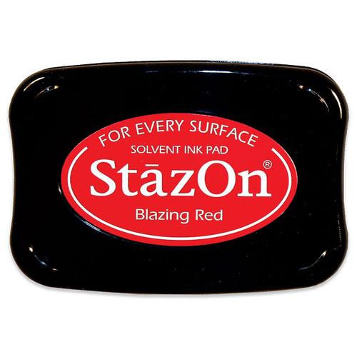 Tsukineko StazOn Inkpad — Blazing Red