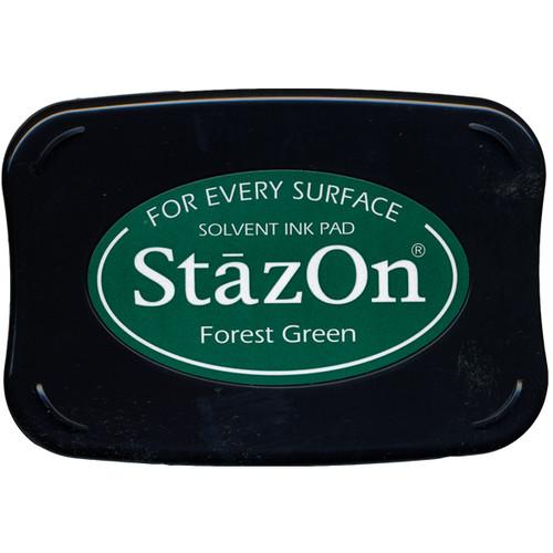 Tsukineko StazOn Inkpad — Forest Green