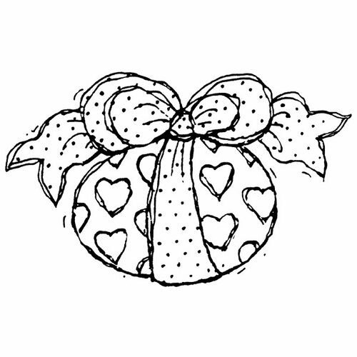 Heart Egg Wood Mounted Stamp by Karen Foster