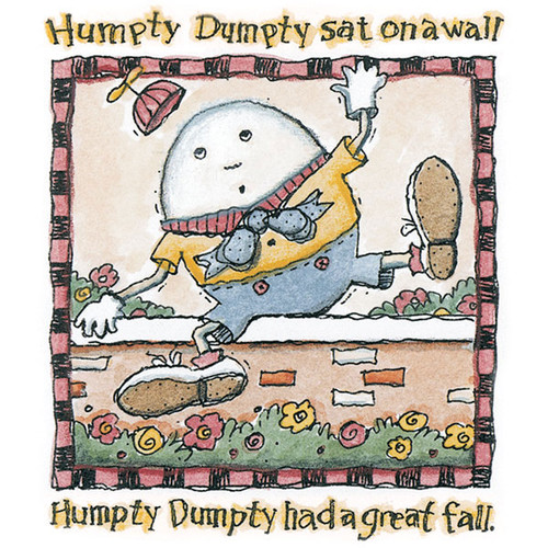 Humpty Dumpty Wood Mounted Stamp by Karen Foster