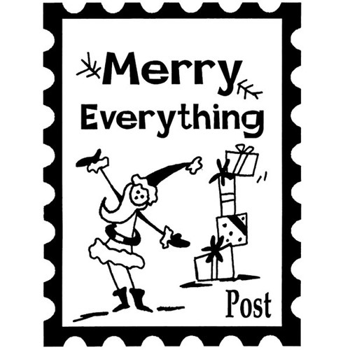 Merry Post — Small Wood Mounted Stamp by Classic Stampington & Company