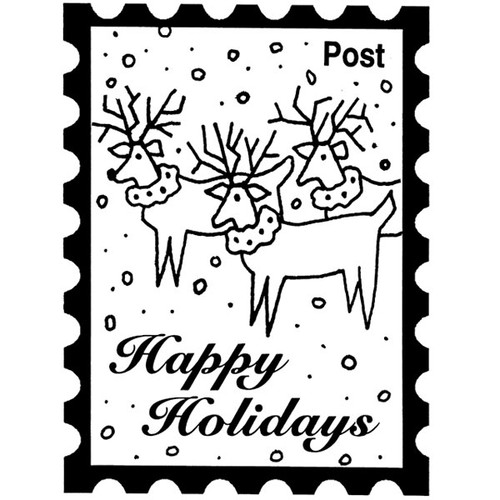 Holiday Post — Small Wood Mounted Stamp by Classic Stampington & Company