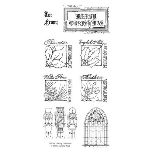 Merry Christmas Clearly Impressed Stamp Set by Michelle Ward