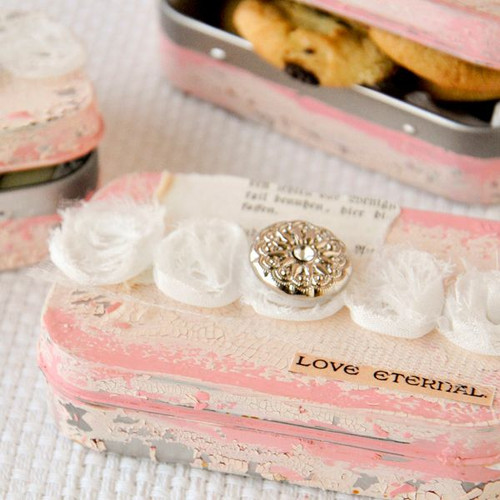 Shabby Chic Favor Tins Project